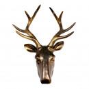 Walplus Deer Head, Wall Decoration, Vintage Brown