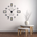 wholesale Pictures & Frames: Walplus, Wall Clock with 4 Photo Frames, Black