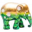 Großhandel Sport & Freizeit:-Elefant-Parade goldener Lotos, handgemachter Elefa