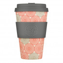 Ecoffee Cup Swirl, Bamboo Cup, 400 ml, with Gray