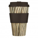 Ecoffee Cup Baumrinde, Bamboo Cup - 400 ml, with D