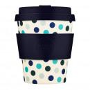 nagyker Háztartás és konyha: Ecoffee Cup Blue Polka, Bamboo Cup, 250 ml,