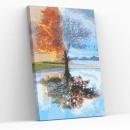 Best Pause Tree in four seasons, Painting on n