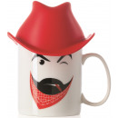 Mug with Silicone Clint Hat (Red)