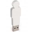 wholesale Storage media: 4GB USB Stick Father (White)