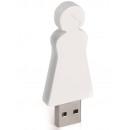 wholesale Storage media: 4GB USB Stick Mother (White)