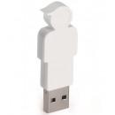 wholesale Storage media: 4GB USB Stick Son (White)