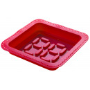wholesale Casserole Dishes and Baking Molds: Form cake with Pastry bag Square (Red)