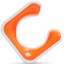 Clug MTB Bike-Clip für Wand - weiß / orange