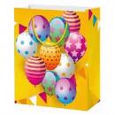Bolsa regalo globos purpurina 32x26x10