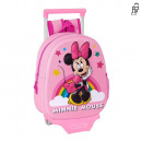 Minnie 3D backpack with wheels 27x33