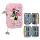 mayorista Material escolar: Minnie Rainbow Plumier Completo28p.19x12