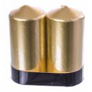 Set 2 velones oro 12x6