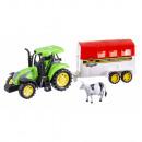 Tracteur avec remorque et animal 30cm -3mod