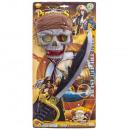 Piratenset met zwaard 4pz blister 57x28