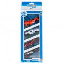 Set van 4 voertuigen Metalen racewagen 26x9