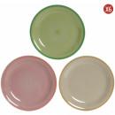Set 6 Platos Cerámica Colors pastel 26cm