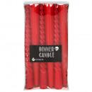 6er-Pack Glatte und lockige rote Kerzen 20 cm