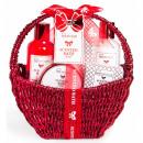 Red Cosmetic Basket Set 5 Pcs