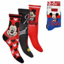mayorista Calcetines y Medias: Mickey Pack 3 calcetines 3 tallas -2 mod
