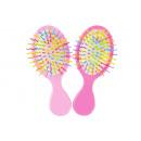 Großhandel Haarpflege: Kamm Regenbogenfarbe pp, 2 fach sortiert