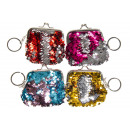 wholesale Bags & Travel accessories: key chain sequined coin purse pp, 9cm