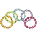 grossiste Bijoux & Montres: bracelet perles brillantes, sachet 7x7cm Ø5,5cm