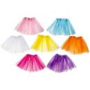 tule skirt glitter, 7 times assorted , 29cm length
