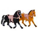 nagyker Babák és plüssök: fekete / barna ló pbh, 11cm magas