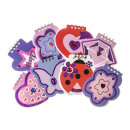 girl notebook pp, 8 times assorted , 10cm