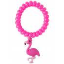 bracelet with flamingo charm pp, 5,5cm Ø5,5cm