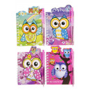 notebook with pen owl s, 9x12cm - 38 pages