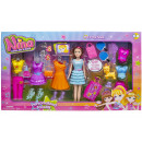nina doll with dog & accessories, 53,5x30,5x7cm