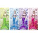 mermaid, blister card, 40x15,5cm - doll 34cm