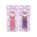 doll amelie with dress, blister card, 35x15cm