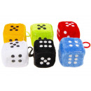 wholesale Dolls &Plush:plush dice, 4cm Ø4cm