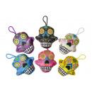wholesale Dolls &Plush:plush skull face, 15cm