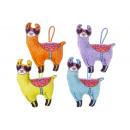 groothandel Poppen & Pluche: pluche grappige alpaca, 19cm