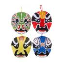 plush samurai mask, 13x14cm