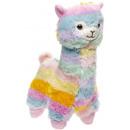 Großhandel Spielwaren: Pluche Regenbogen Alpaka s, 25cm