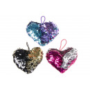 plush sequins heart s, 12x11cm