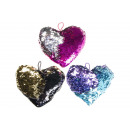 plush sequins heart m, 20x17cm