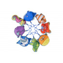 plush sea animals key chain, 6-12cm