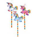 plush unicorn on stick, 25x18cm + stick 18cm