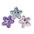 plush glitter star colored, 30cm