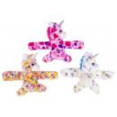 Großhandel Spielwaren: Plüsch Einhorn Armband, 22x16cm