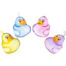 plush duck colored, 14x13cm