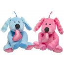 plush dog with heart s, 17cm
