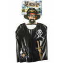wholesale Toys: pirate dress up set plastic, 44x37x2cm
