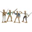 wild west cowboy pph, 4 times assorted , 6,5cm